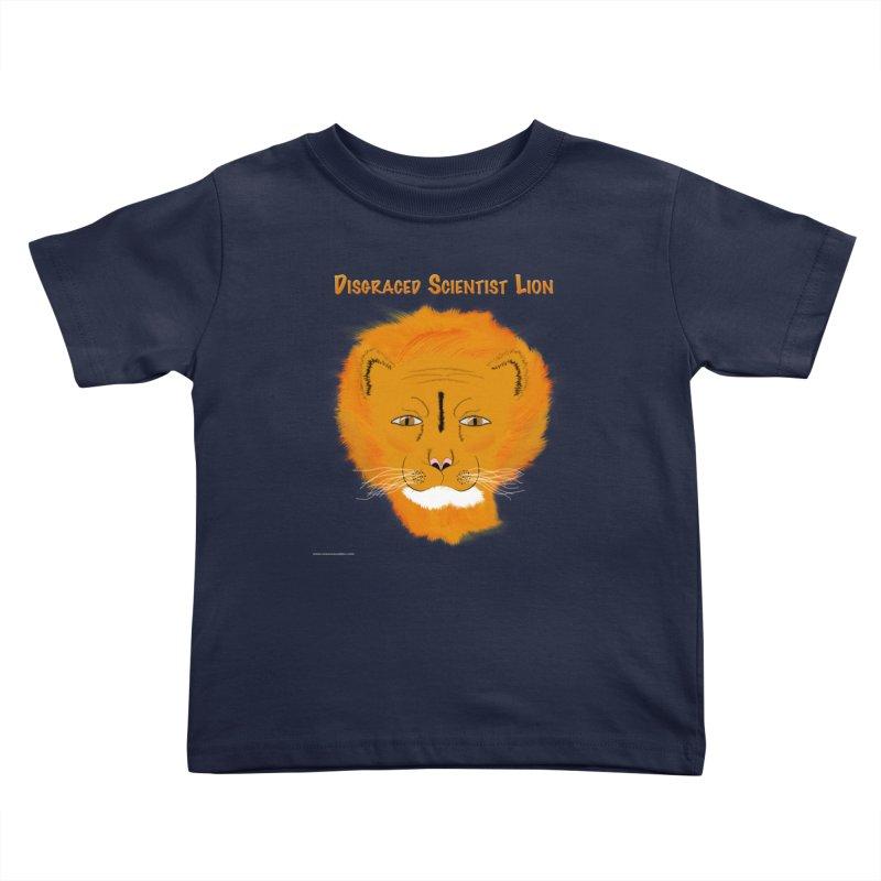 Disgraced Scientist Lion Kids Toddler T-Shirt by Every Drop's An Idea's Artist Shop
