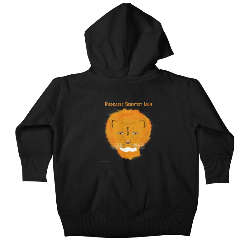 Disgraced Scientist Lion Kids Baby Zip-Up Hoody by Every Drop's An Idea's Artist Shop