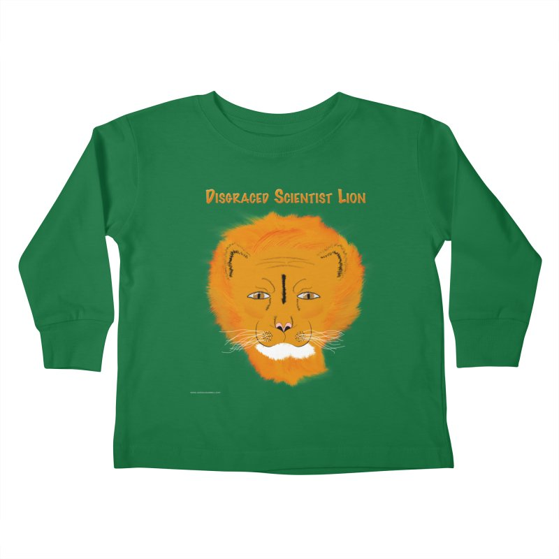 Disgraced Scientist Lion Kids Toddler Longsleeve T-Shirt by Every Drop's An Idea's Artist Shop