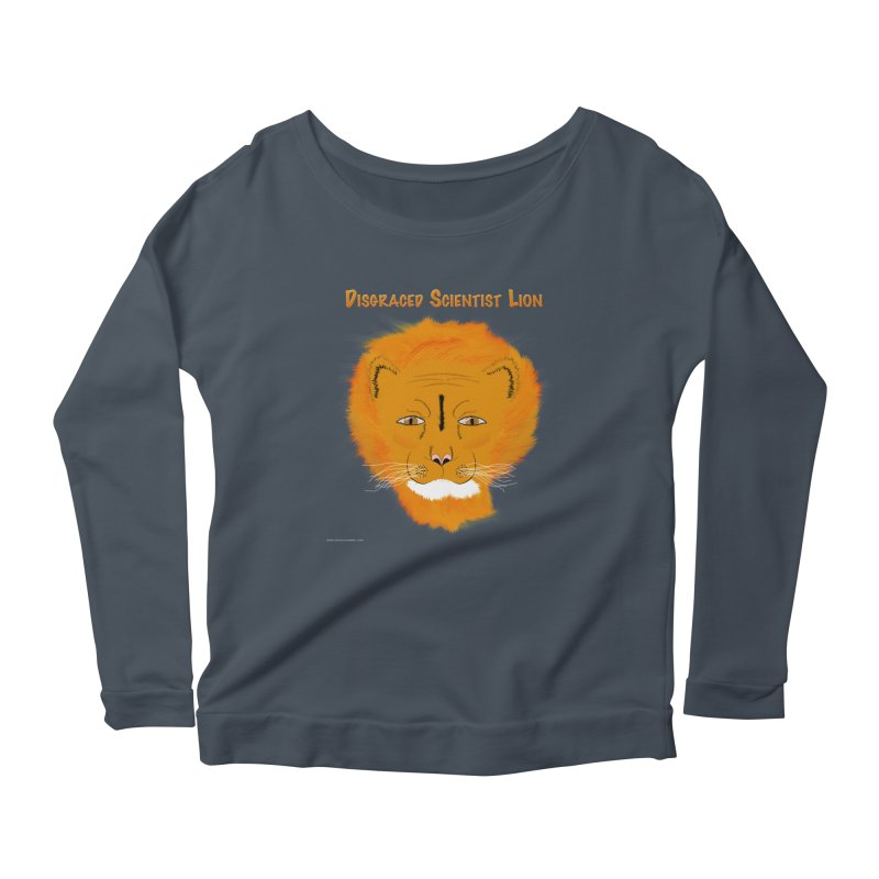 Disgraced Scientist Lion Women's Scoop Neck Longsleeve T-Shirt by Every Drop's An Idea's Artist Shop