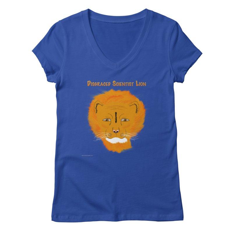 Disgraced Scientist Lion Women's V-Neck by Every Drop's An Idea's Artist Shop