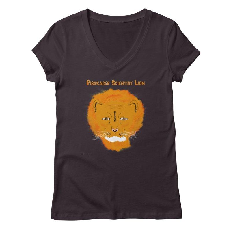 Disgraced Scientist Lion Women's Regular V-Neck by Every Drop's An Idea's Artist Shop