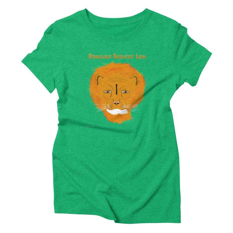 Disgraced Scientist Lion Women's Triblend T-Shirt by Every Drop's An Idea's Artist Shop
