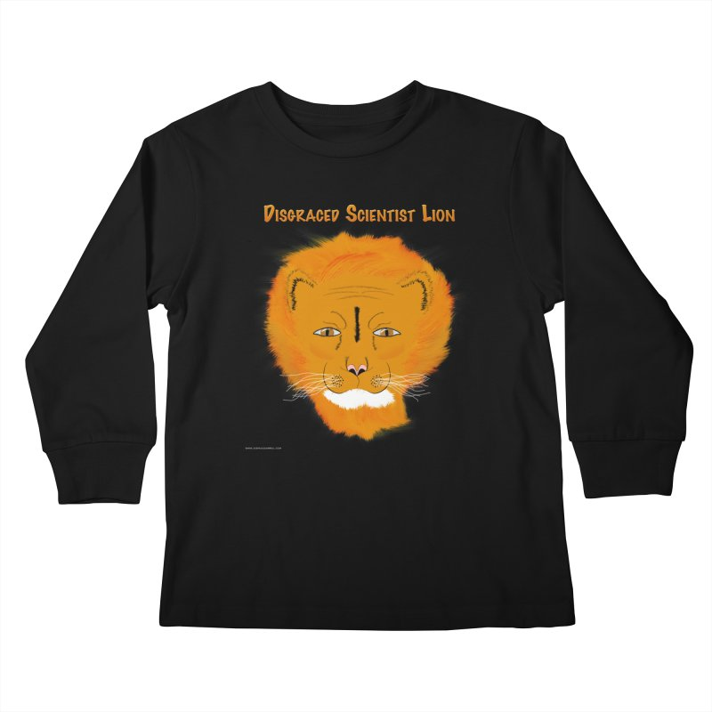 Disgraced Scientist Lion Kids Longsleeve T-Shirt by Every Drop's An Idea's Artist Shop
