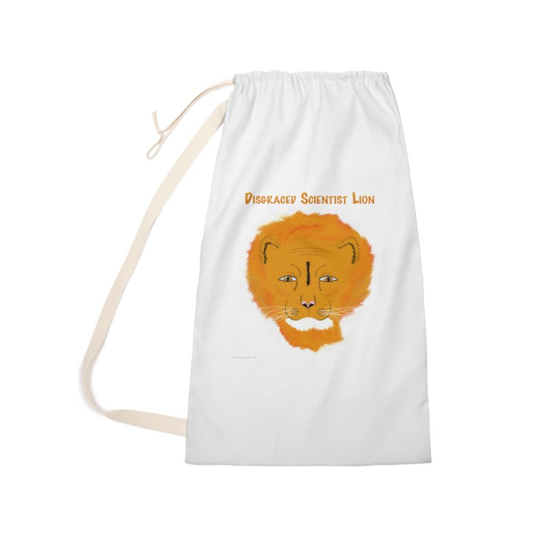 Disgraced Scientist Lion Accessories Laundry Bag Bag by Every Drop's An Idea's Artist Shop