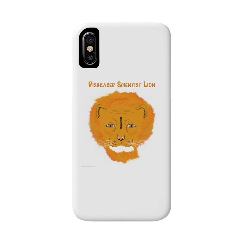 Disgraced Scientist Lion Accessories Phone Case by Every Drop's An Idea's Artist Shop
