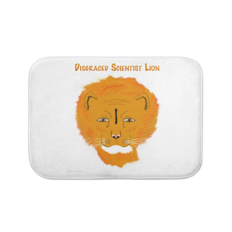 Disgraced Scientist Lion Home Bath Mat by Every Drop's An Idea's Artist Shop