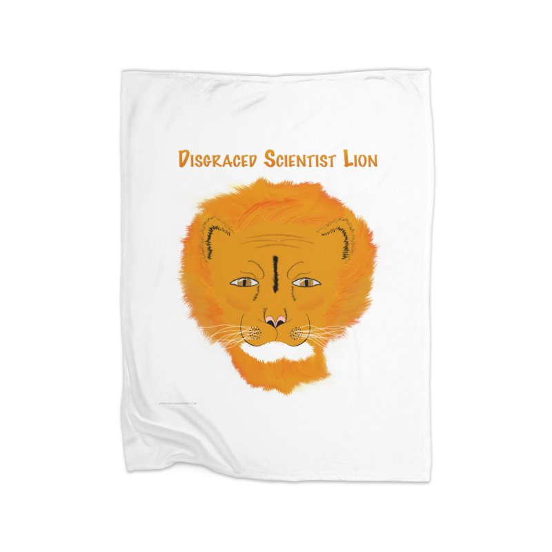 Disgraced Scientist Lion Home Fleece Blanket Blanket by Every Drop's An Idea's Artist Shop