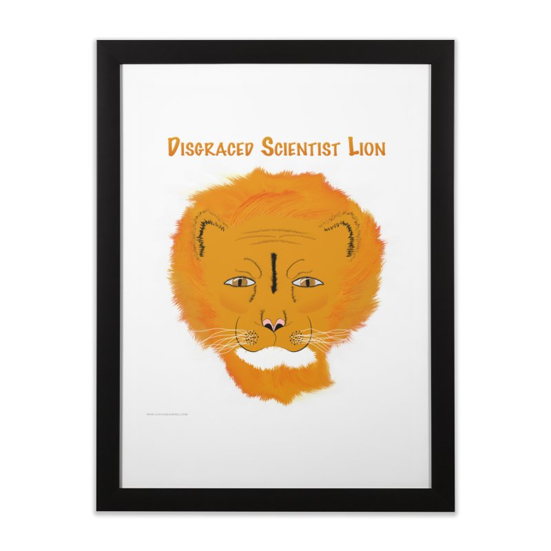 Disgraced Scientist Lion Home Framed Fine Art Print by Every Drop's An Idea's Artist Shop