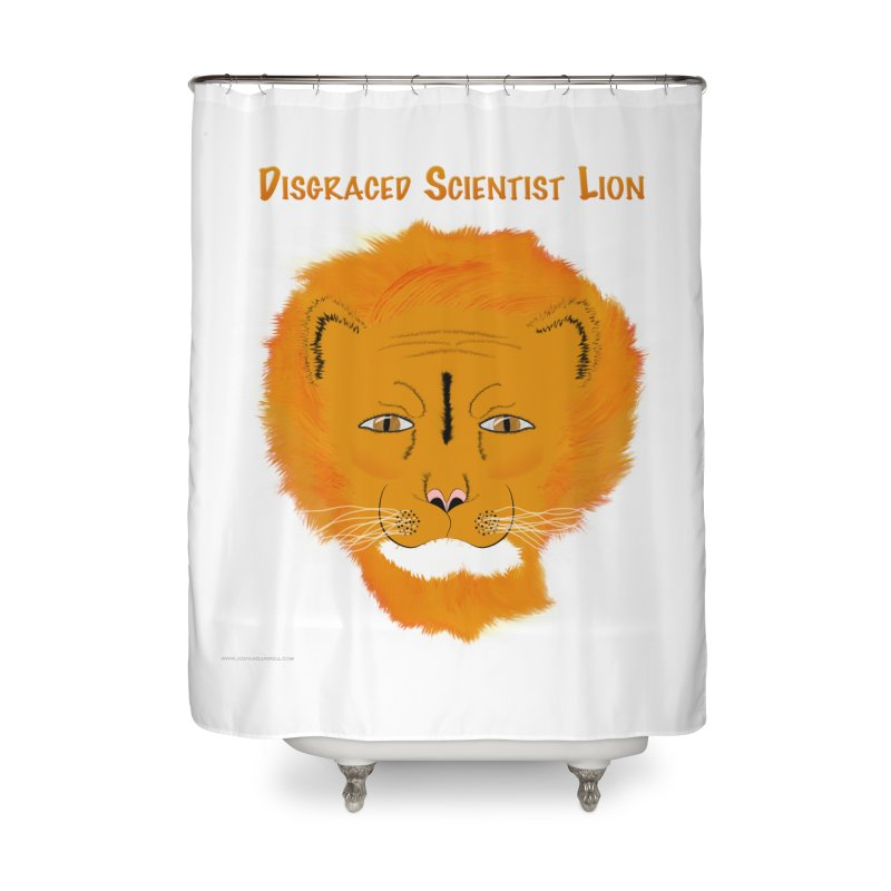 Disgraced Scientist Lion Home Shower Curtain by Every Drop's An Idea's Artist Shop