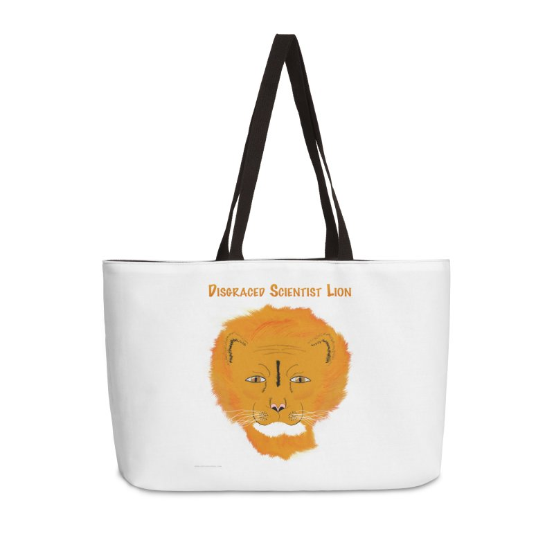 Disgraced Scientist Lion Accessories Weekender Bag Bag by Every Drop's An Idea's Artist Shop