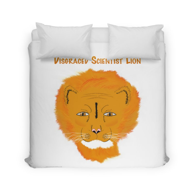 Disgraced Scientist Lion Home Duvet by Every Drop's An Idea's Artist Shop