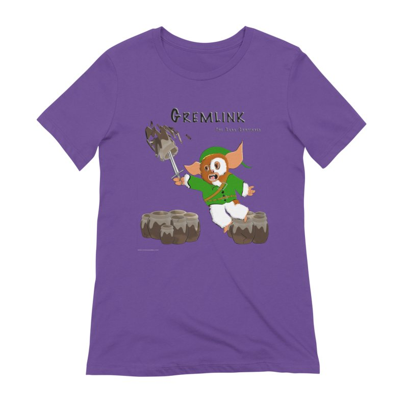 Gremlink: The Saga Continues Women's Extra Soft T-Shirt by Every Drop's An Idea's Artist Shop