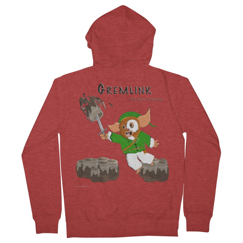 Gremlink: The Saga Continues Men's French Terry Zip-Up Hoody by Every Drop's An Idea's Artist Shop
