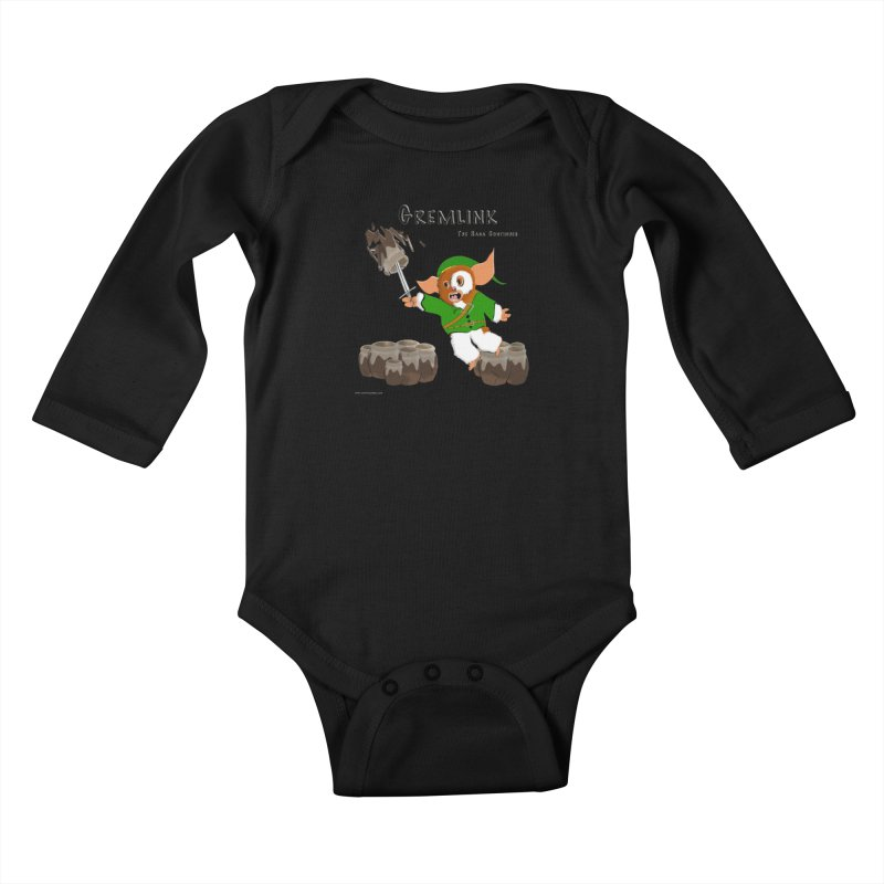 Gremlink: The Saga Continues Kids Baby Longsleeve Bodysuit by Every Drop's An Idea's Artist Shop
