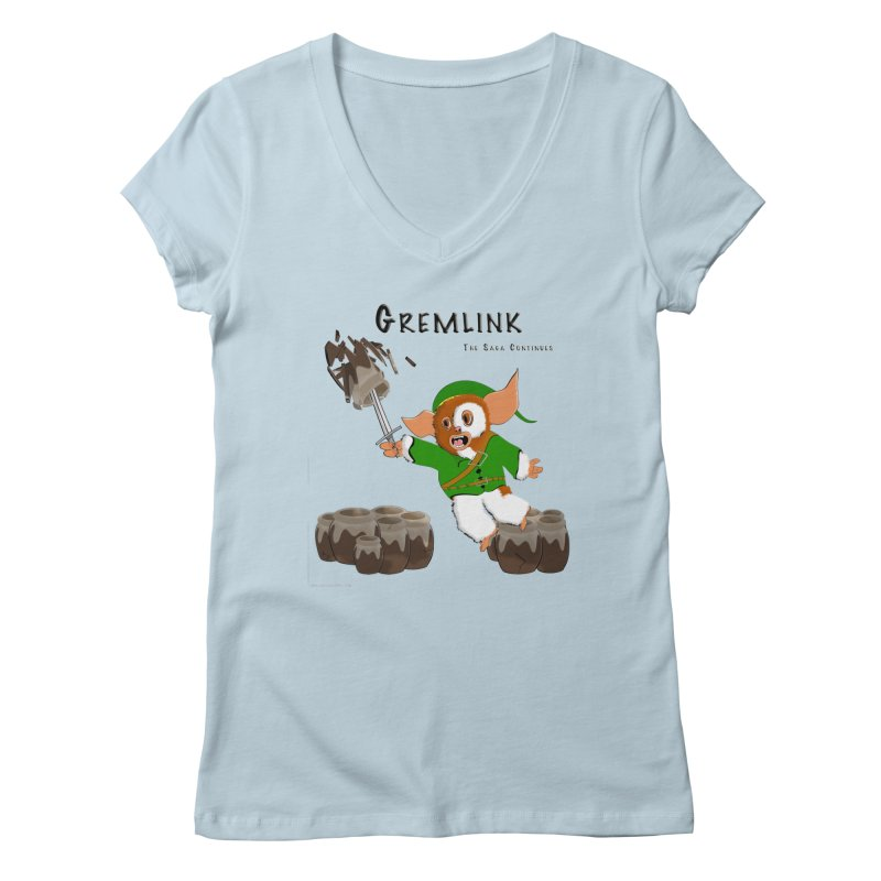 Gremlink: The Saga Continues Women's Regular V-Neck by Every Drop's An Idea's Artist Shop