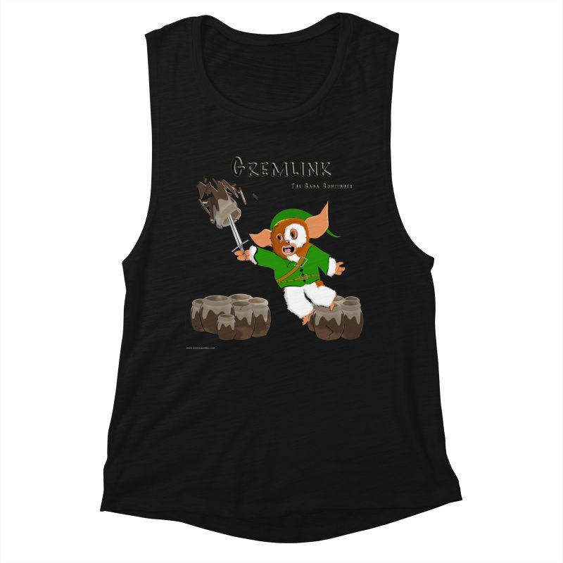 Gremlink: The Saga Continues Women's Muscle Tank by Every Drop's An Idea's Artist Shop
