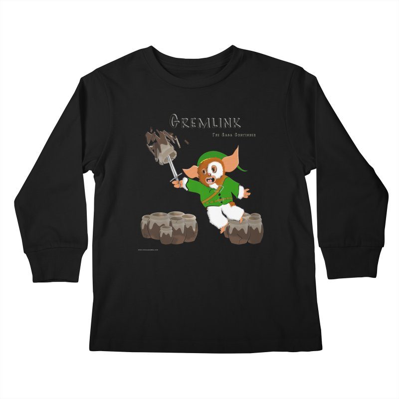 Gremlink: The Saga Continues Kids Longsleeve T-Shirt by Every Drop's An Idea's Artist Shop