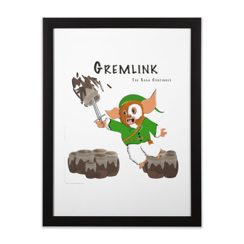 Gremlink: The Saga Continues Home Framed Fine Art Print by Every Drop's An Idea's Artist Shop