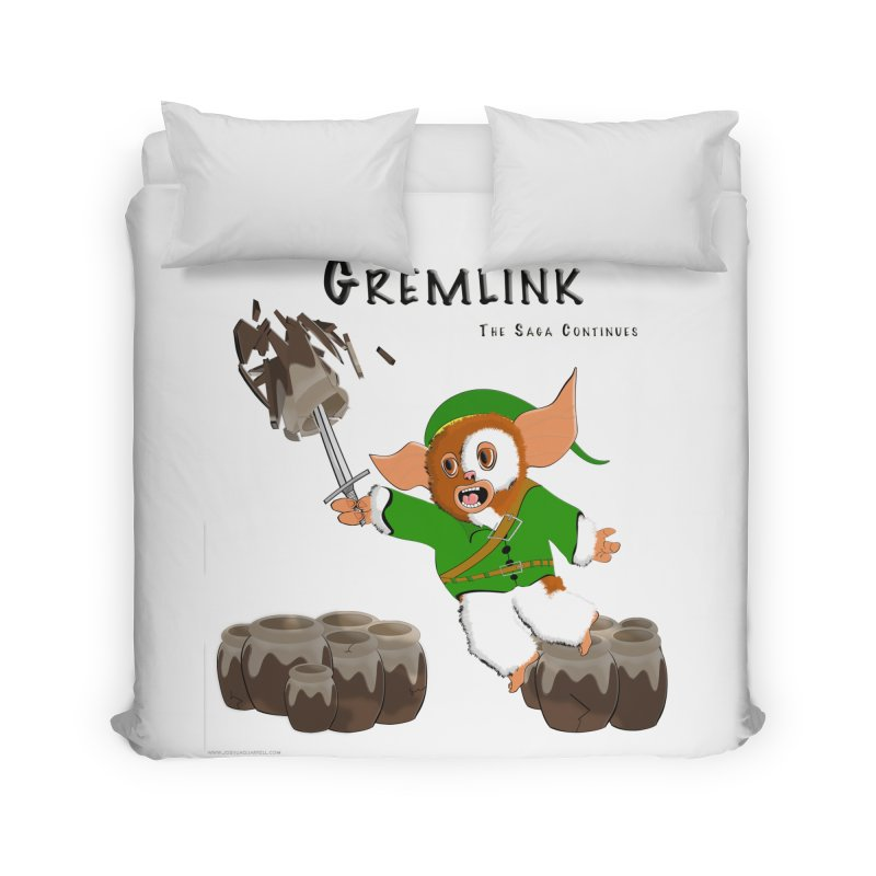 Gremlink: The Saga Continues Home Duvet by Every Drop's An Idea's Artist Shop