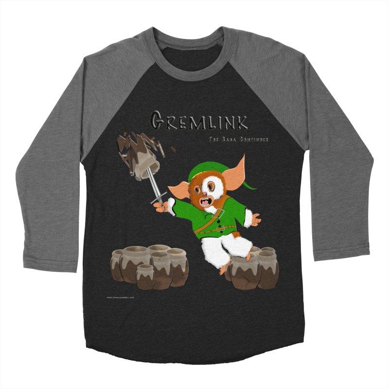 Gremlink: The Saga Continues Men's Baseball Triblend Longsleeve T-Shirt by Every Drop's An Idea's Artist Shop