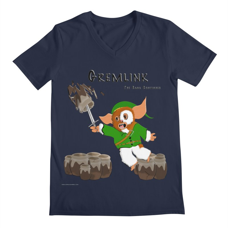 Gremlink: The Saga Continues Men's V-Neck by Every Drop's An Idea's Artist Shop