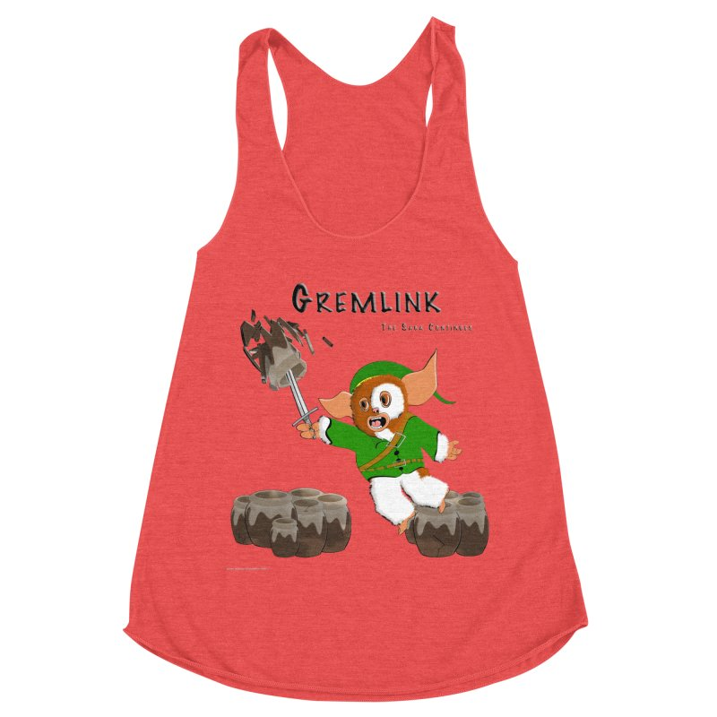 Gremlink: The Saga Continues Women's Racerback Triblend Tank by Every Drop's An Idea's Artist Shop