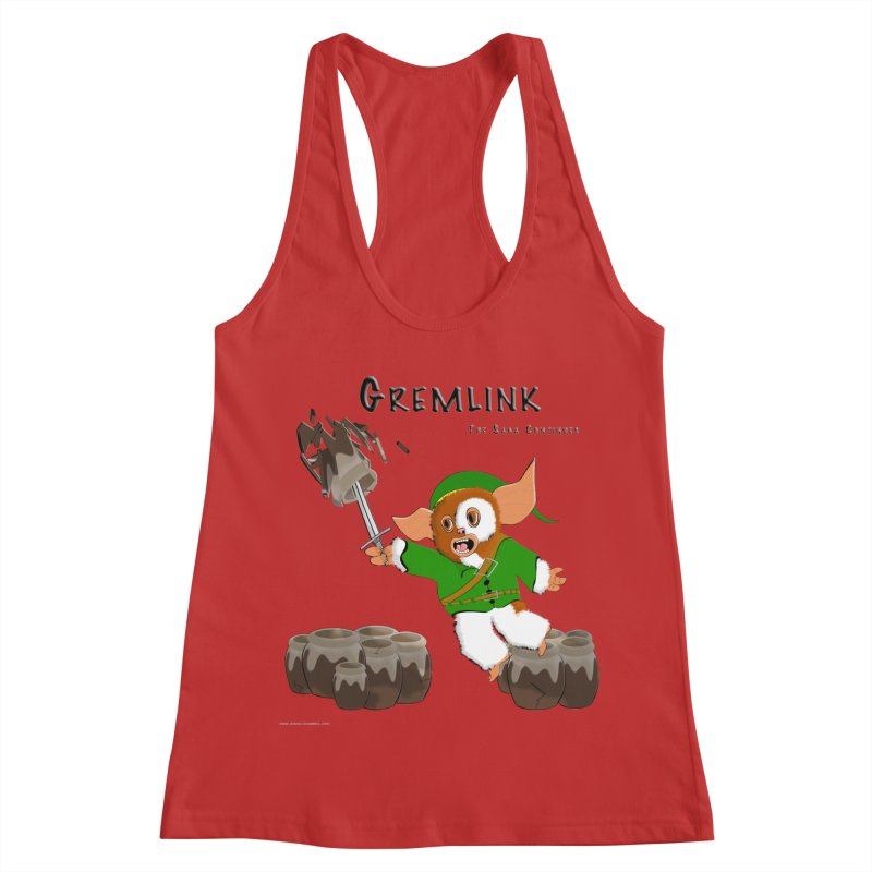 Gremlink: The Saga Continues Women's Racerback Tank by Every Drop's An Idea's Artist Shop