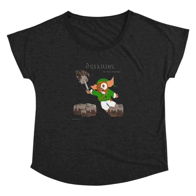 Gremlink: The Saga Continues Women's Scoop Neck by Every Drop's An Idea's Artist Shop