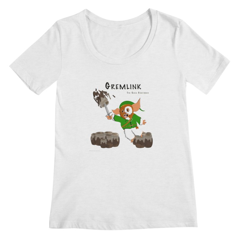 Gremlink: The Saga Continues Women's Regular Scoop Neck by Every Drop's An Idea's Artist Shop