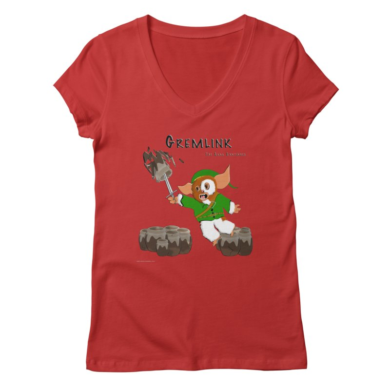 Gremlink: The Saga Continues Women's V-Neck by Every Drop's An Idea's Artist Shop