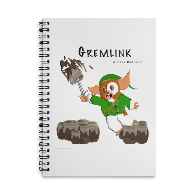 Gremlink: The Saga Continues Accessories Lined Spiral Notebook by Every Drop's An Idea's Artist Shop