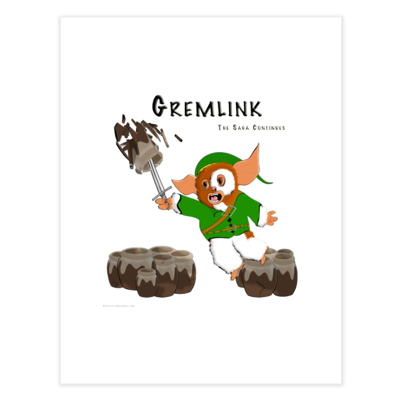 Gremlink: The Saga Continues Home Fine Art Print by Every Drop's An Idea's Artist Shop