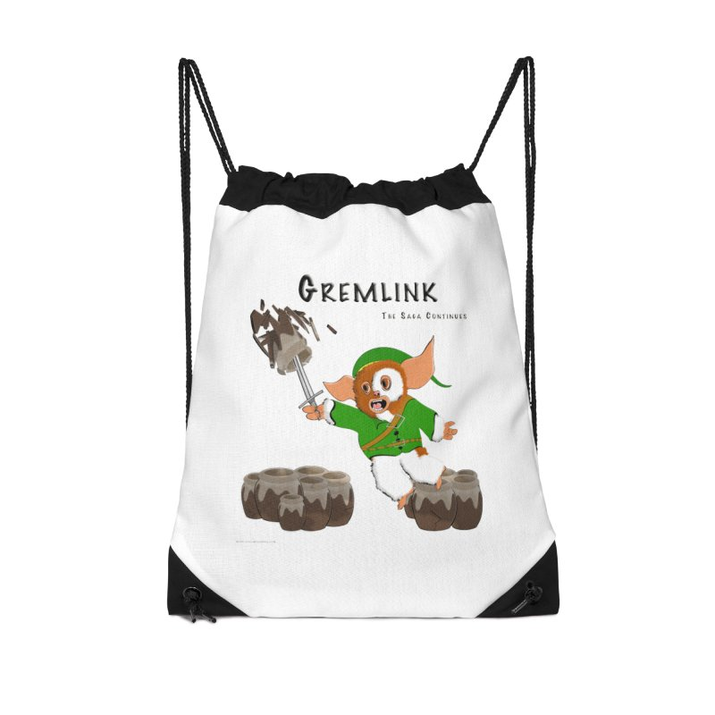 Gremlink: The Saga Continues Accessories Drawstring Bag Bag by Every Drop's An Idea's Artist Shop