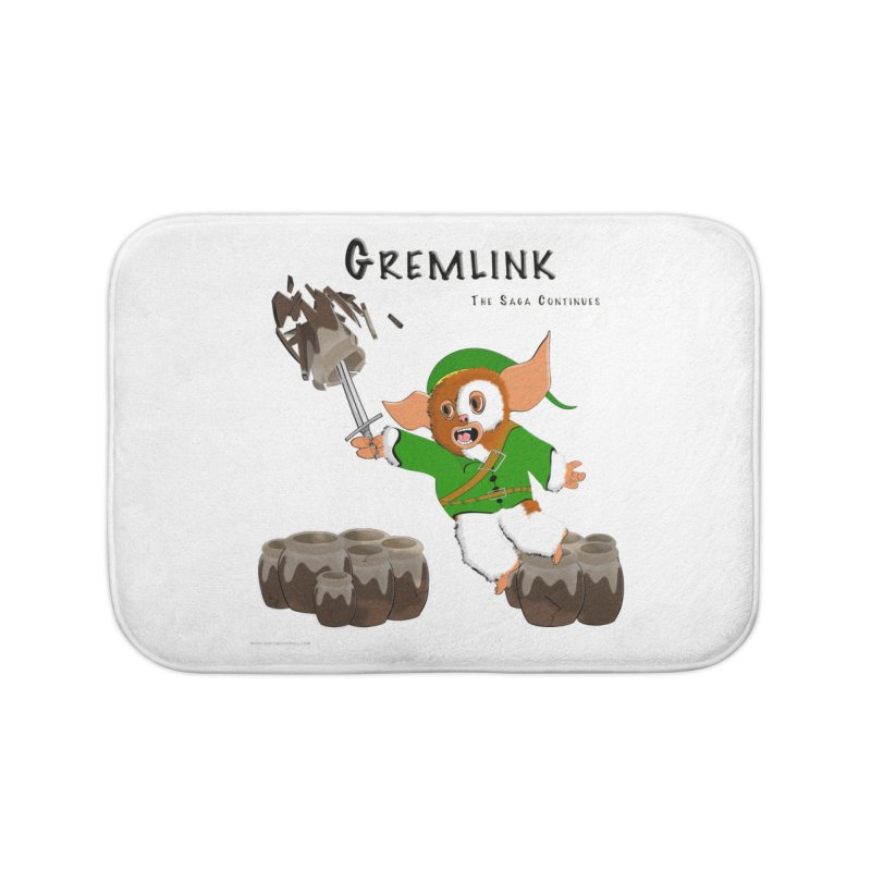 Gremlink: The Saga Continues Home Bath Mat by Every Drop's An Idea's Artist Shop