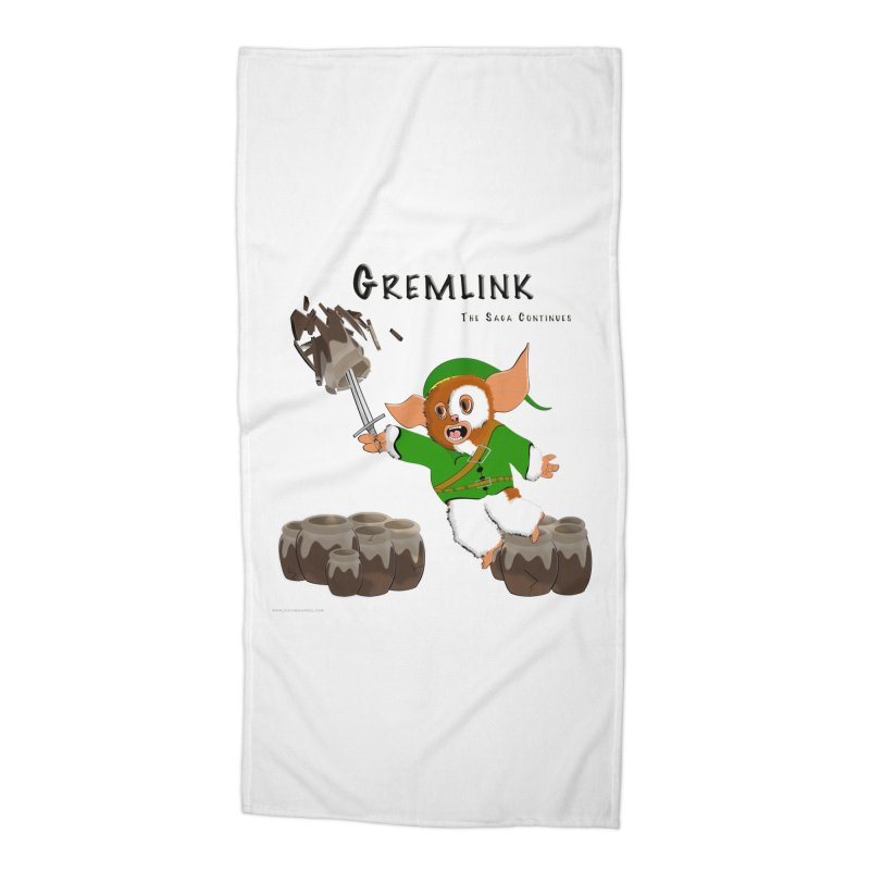 Gremlink: The Saga Continues Accessories Beach Towel by Every Drop's An Idea's Artist Shop