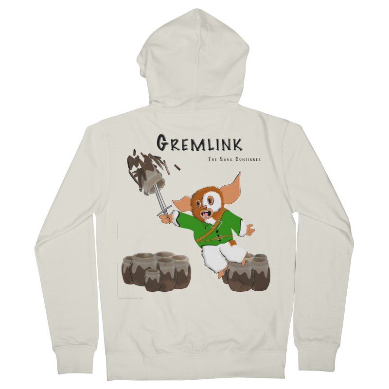 Gremlink: The Saga Continues Women's French Terry Zip-Up Hoody by Every Drop's An Idea's Artist Shop