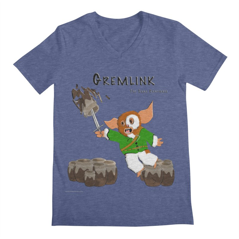 Gremlink: The Saga Continues Men's Regular V-Neck by Every Drop's An Idea's Artist Shop