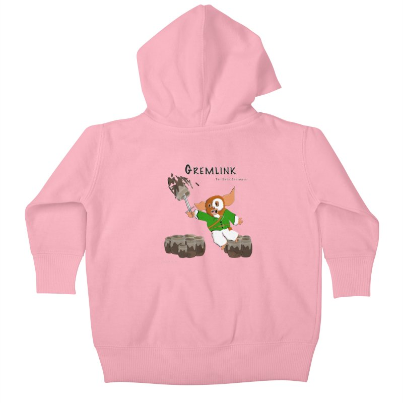 Gremlink: The Saga Continues Kids Baby Zip-Up Hoody by Every Drop's An Idea's Artist Shop