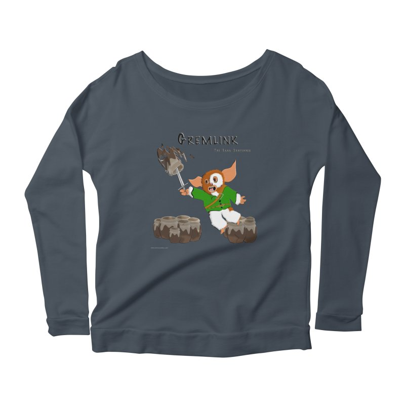 Gremlink: The Saga Continues Women's Scoop Neck Longsleeve T-Shirt by Every Drop's An Idea's Artist Shop