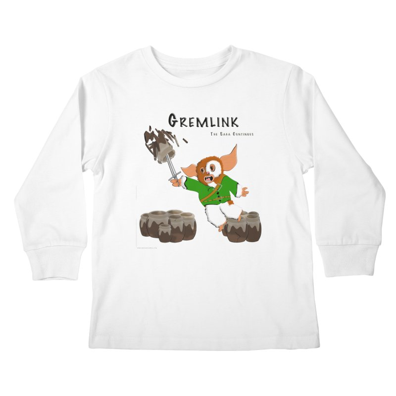 Gremlink: The Saga Continues Kids Longsleeve T-Shirt by Every Drop's An Idea's Artist Shop