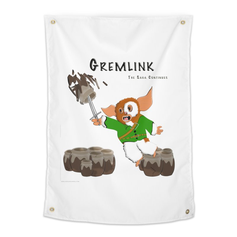 Gremlink: The Saga Continues Home Tapestry by Every Drop's An Idea's Artist Shop