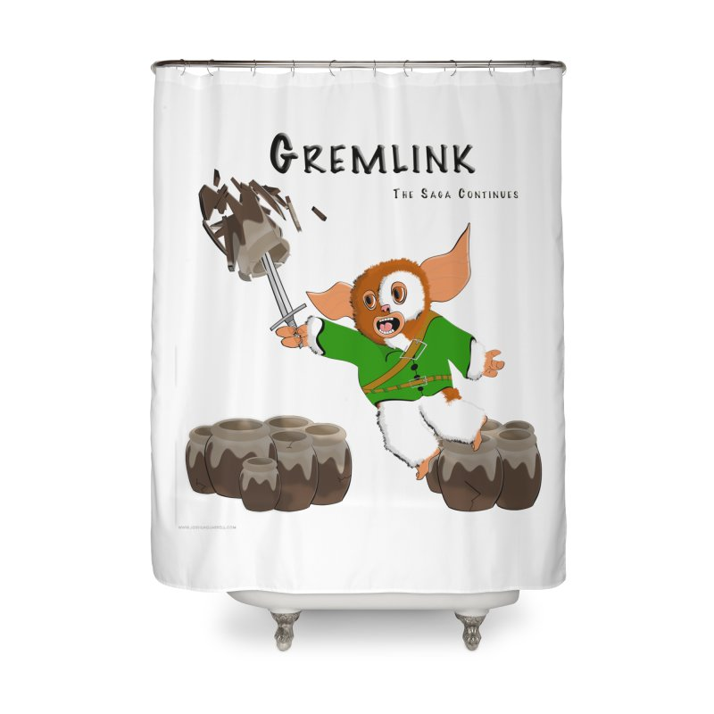 Gremlink: The Saga Continues Home Shower Curtain by Every Drop's An Idea's Artist Shop