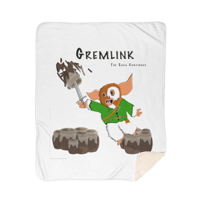 Gremlink: The Saga Continues Home Sherpa Blanket Blanket by Every Drop's An Idea's Artist Shop
