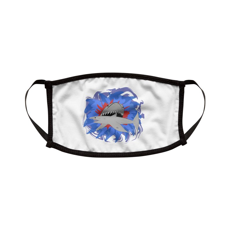 Shark Weak Accessories Face Mask by Every Drop's An Idea's Artist Shop