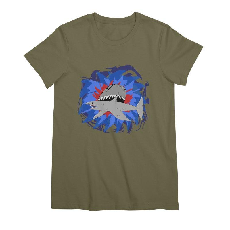 Shark Weak Women's Premium T-Shirt by Every Drop's An Idea's Artist Shop