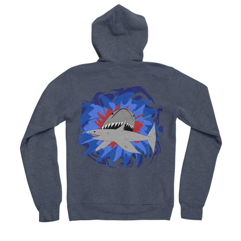 Shark Weak Men's Sponge Fleece Zip-Up Hoody by Every Drop's An Idea's Artist Shop