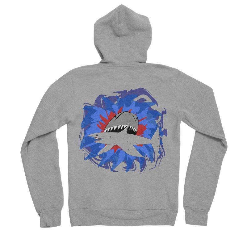 Shark Weak Women's Sponge Fleece Zip-Up Hoody by Every Drop's An Idea's Artist Shop
