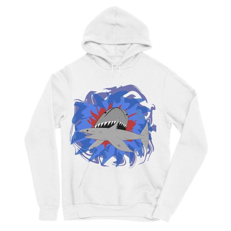 Shark Weak Men's Sponge Fleece Pullover Hoody by Every Drop's An Idea's Artist Shop