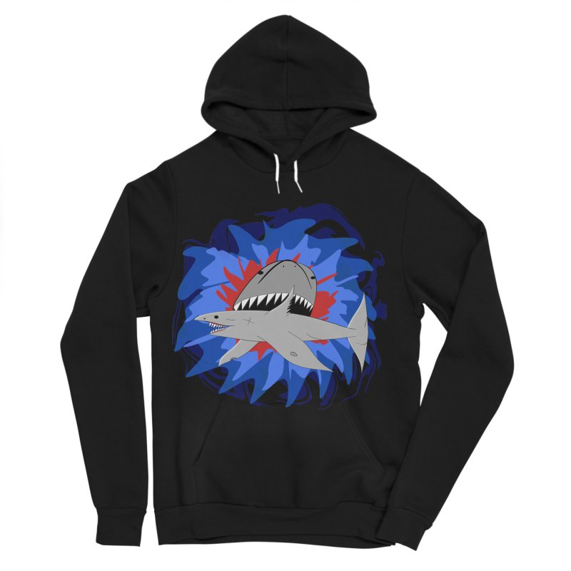 Shark Weak Men's Sponge Fleece Pullover Hoody by Every Drop's An Idea's Artist Shop